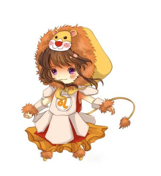 Hình ảnh cung sư tử chibi đẹp
