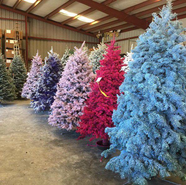 Hình ảnh những cây thông noel nhiều màu sắc