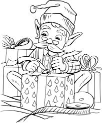 Hình ảnh ông già Noel gói quà cho bé tập tô màu đẹp nhất