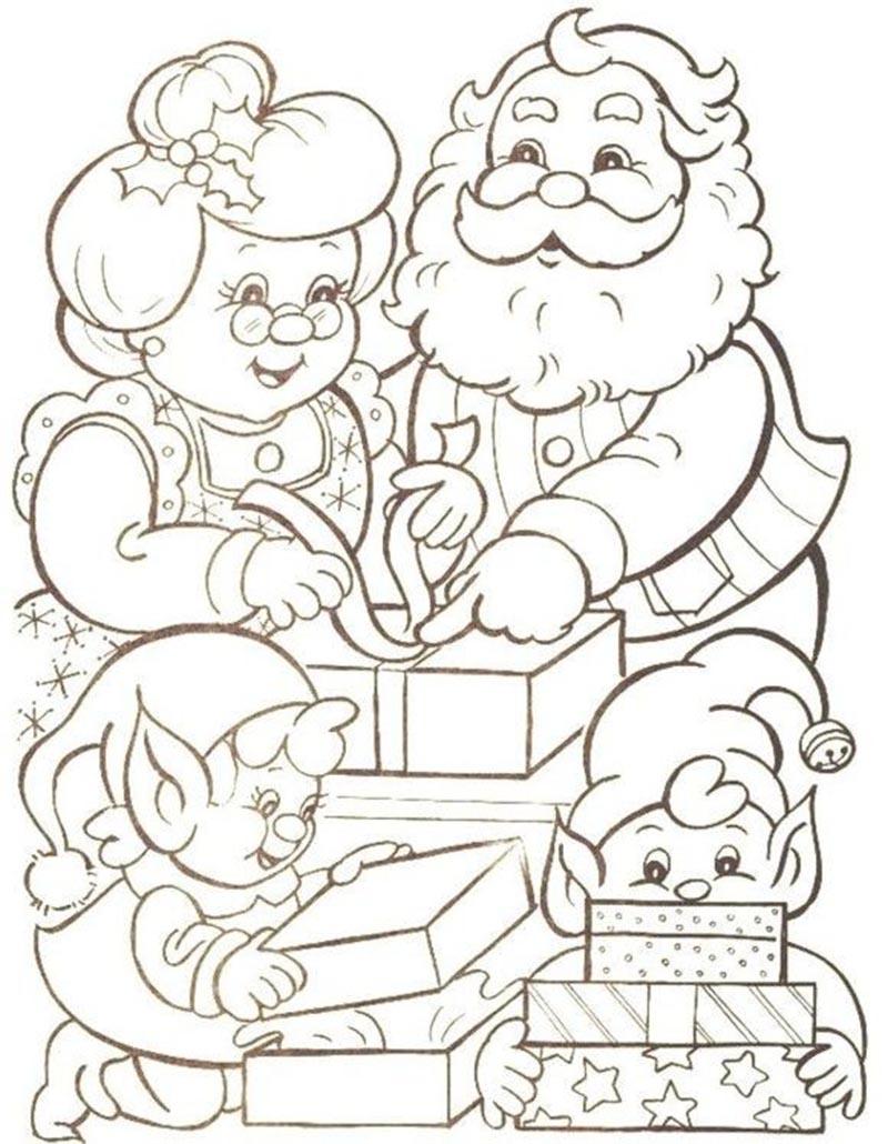 Những hình ảnh tranh tô màu đẹp nhất cho ông già Noel đẹp nhất