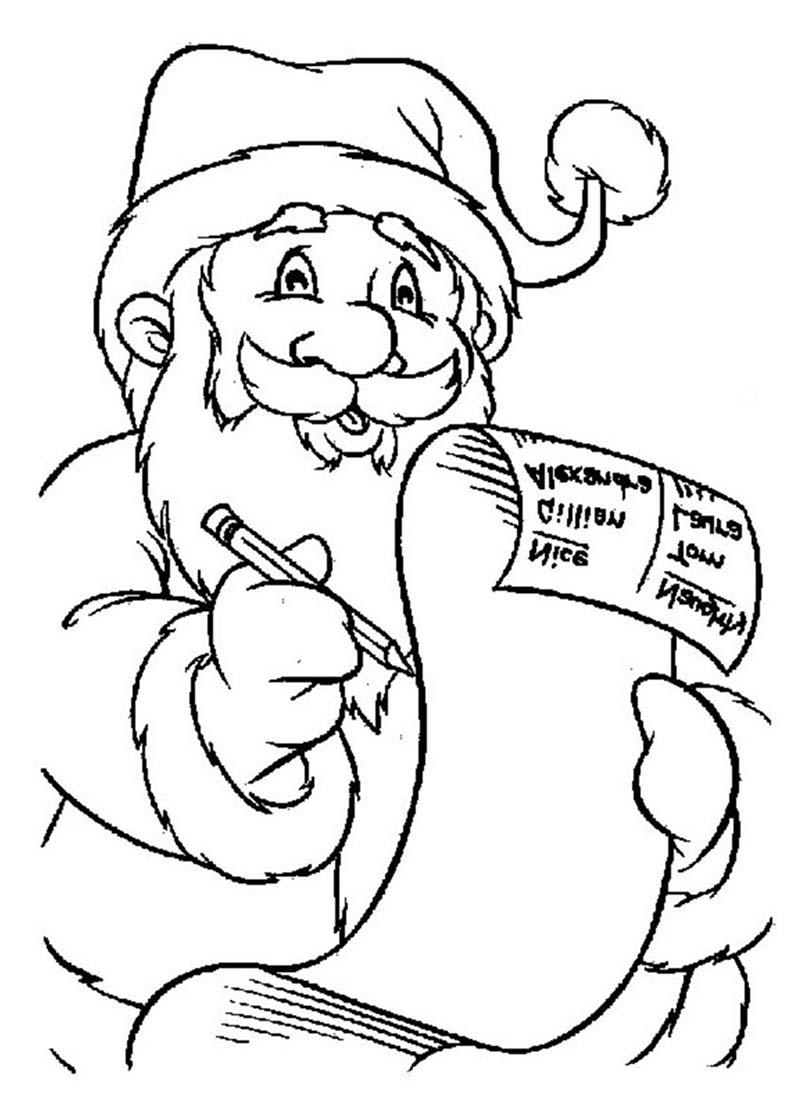 Ông già Noel viết thư cho những đứa bé ngoan hình ảnh tranh tô màu cho bé