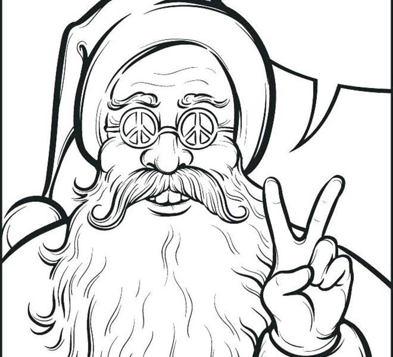 Tranh tô màu cho bé tô màu với hình ảnh ông già Noel dễ thương và đẹp nhất