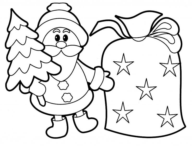 Tranh tô màu cho em bé ngày giáng sinh