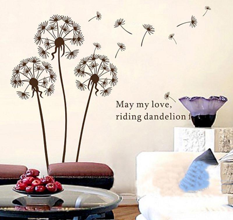 Decal dán tường hoa bồ công anh đẹp nhất