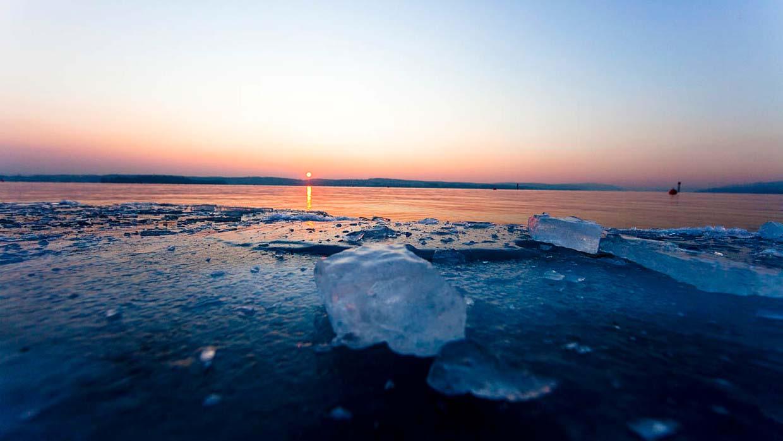 Hình ảnh băng giá mùa đông