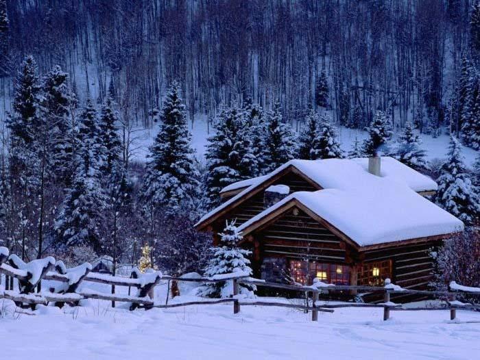 Hình ảnh căn nhà mùa đông