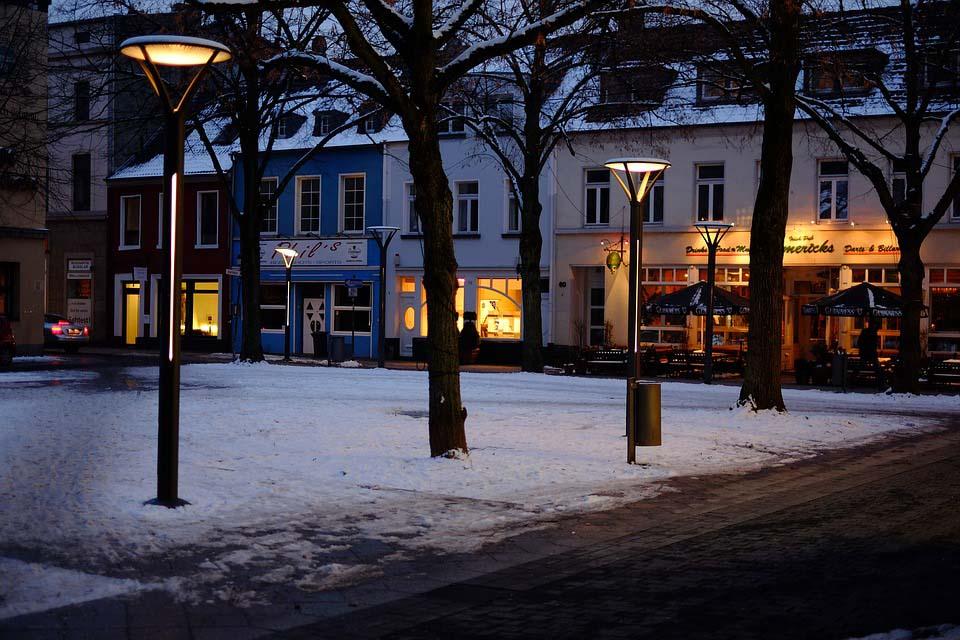 Hình ảnh chiều tối mùa đông