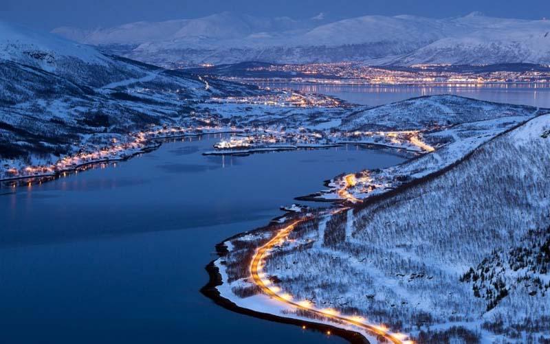 Hình ảnh đẹp mùa đông về đêm