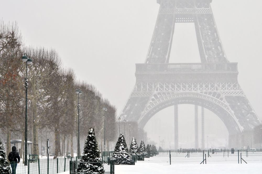 Hình ảnh Paris mùa đông