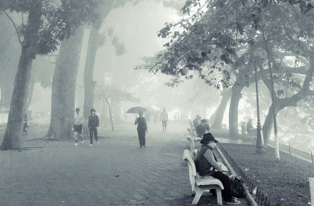 Hình ảnh phố mùa đông xưa