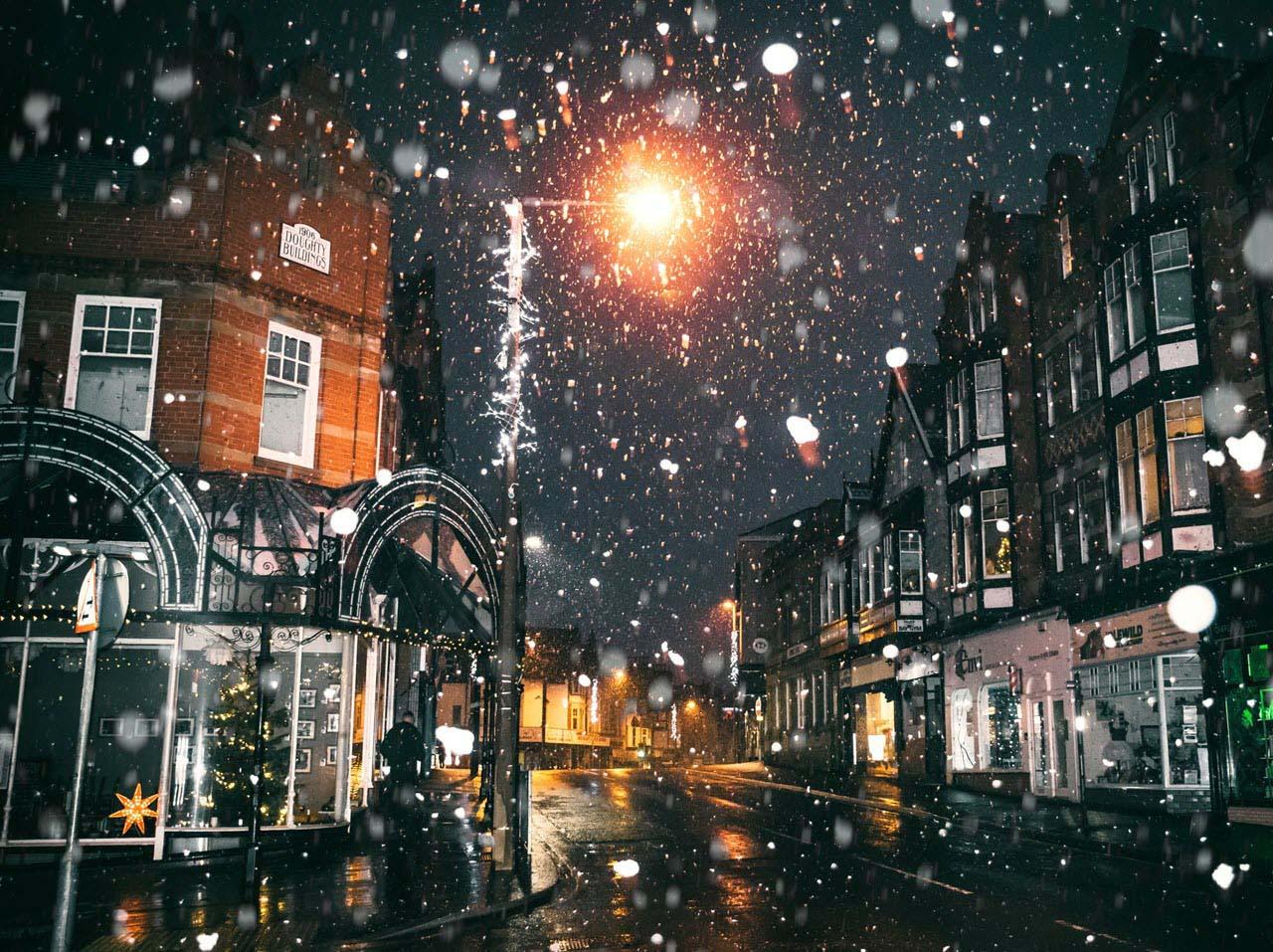 Hình ảnh phố mùa đông