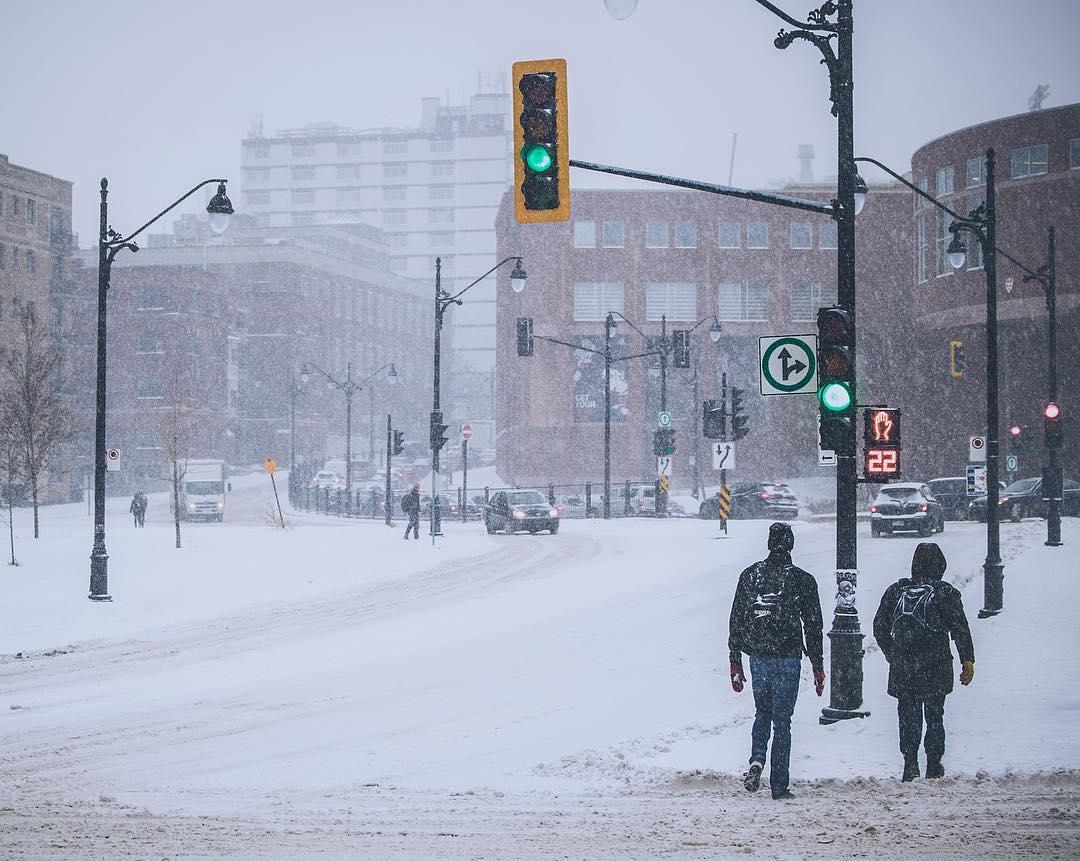 Hình ảnh thành phố mùa đông