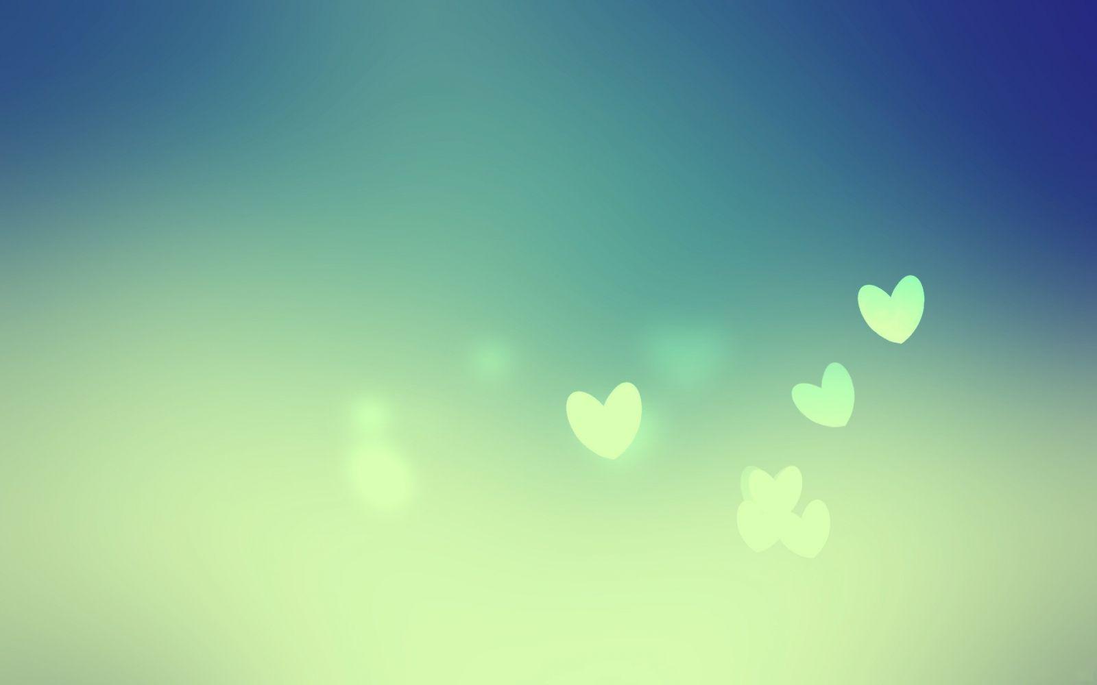 Hình nền đẹp trái tim màu xanh