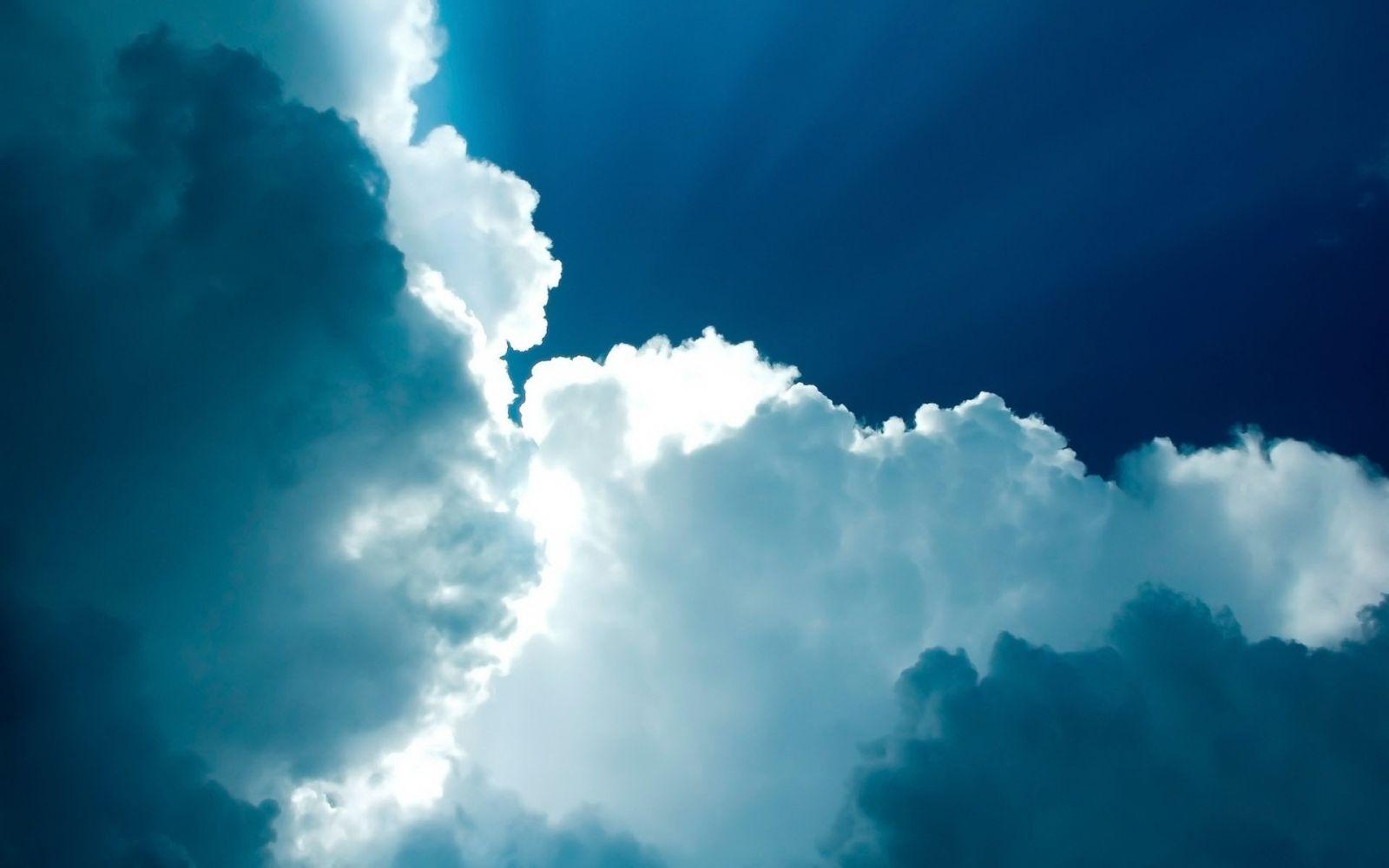 Hình nền mây màu xanh