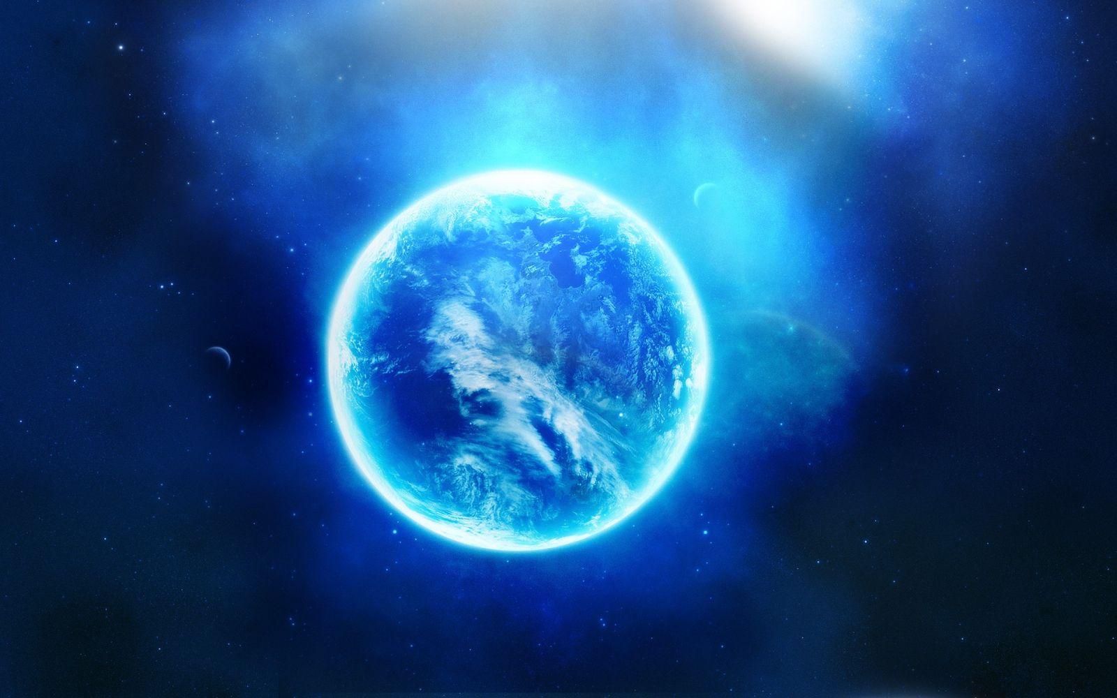 Hình nền trái đất màu xanh